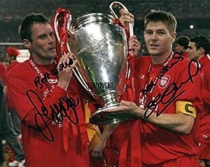 Limited Edition Steven Gerrard Jamie Carragher Signed Photograph + Cert Printed Autograph from THEPRINTSHOP