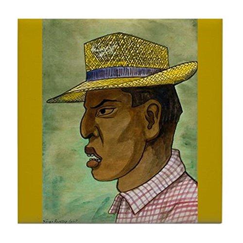 CafePress-Chapeau Panama de Diego RIVERA Art-pour carrelage Dessous de Verre, dessous de boisson, petite Dessous de Plat - Diego Rivera, Mexikanischer Künstler