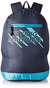 Flying Machine Fabric Navy Blue Laptop Backpack (FMLO8154)