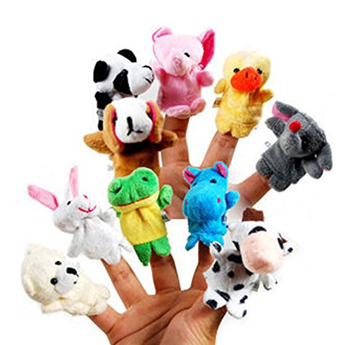10x-Farm-Zoo-Animal-Finger-Puppets-Toys-Boys-Girls-Babys-Party-Bag-Filler