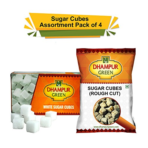 Dhampur Green Sugar Cubes Bulk Assorted Pack (Pack of 4)