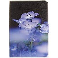 iPad Mini 1/2/3 Hülle,iPad Mini 1/2/3 Lederhülle,JAWSEU PU Leder Flip Karten Slot Schutzhülle Schön Lila Blumen... preisvergleich bei billige-tabletten.eu