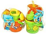 1 x Sandeimer Sandspielzeug-Set 8-teilig Strandspielzeug Sieb Förmchen Gießkanne