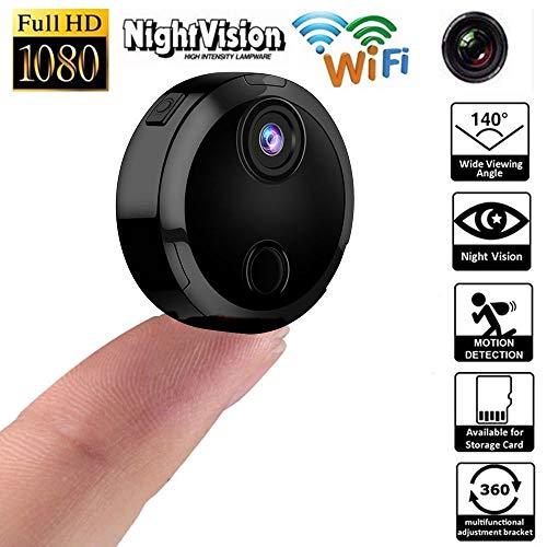 Fcostume HDQ15 Mini-Kamera Wireless WiFi IP-Sicherheits-Camcorder 1080P HD Nachtsicht (Schwarz)
