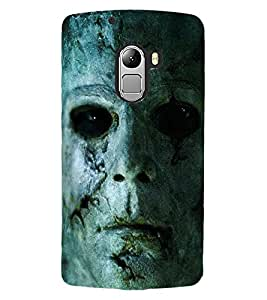 ColourCraft Scary face Design Back Case Cover for LENOVO VIBE X3 LITE
