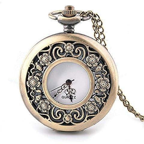 Orologio Orologio da tasca elegante intagliato openwork flip orologio da tasca idea , 1