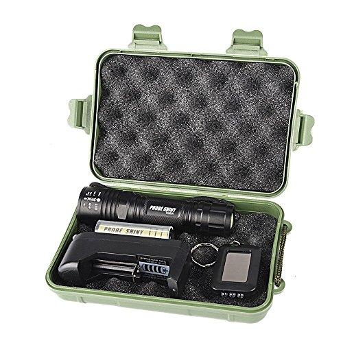Preisvergleich Produktbild Tonsee X800 XM-L T6 LED taktische Taschenlampe zoombare Taschenlampe Lampe + 18650 + Ladegerät