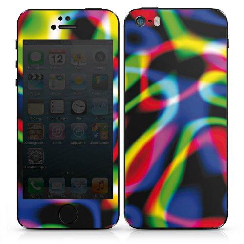 Apple iPhone SE Case Skin Sticker aus Vinyl-Folie Aufkleber Laser Licht Bunt DesignSkins® glänzend