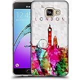 Head Case Designs Big Ben Londres Angleterre Horizon D'aquarelle Étui Coque en Gel molle pour Samsung Galaxy A3 (2016)