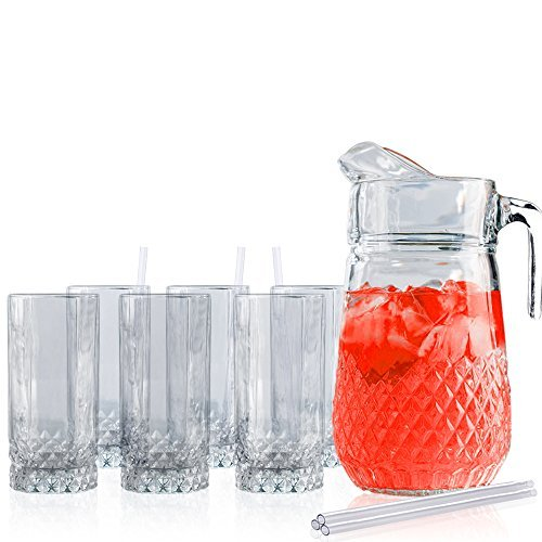 beautiful-cut-7-piece-beverage-glass-set-includes-64-oz-pitcher-and-6-10-oz-glasses-with-acrylic-str