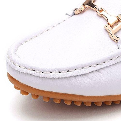 Odema Loafer scarpe mocassine senza tacco da donna bianca