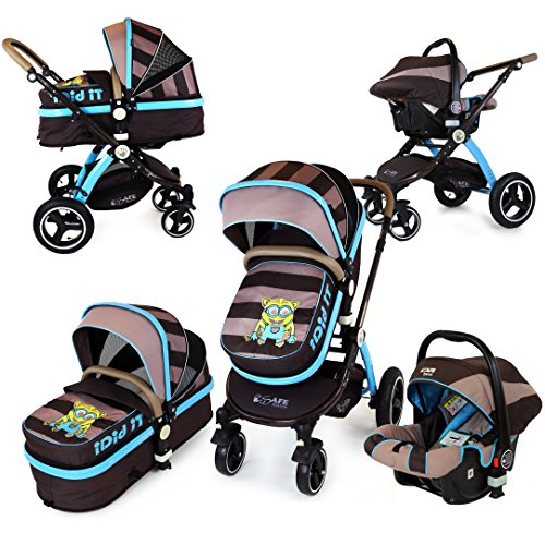 i-Safe System – i DiD iT Trio Travel System Pram & Luxury Stroller 3 in 1 Complete With Car Seat 51U9UchXjtL