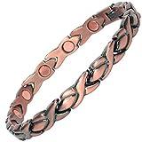 MPS® Bracelet magnétique riche en cuivre avec de puissantes 3000 gauss aimants néodyme. Avec outil gratuit pour enlever liens.