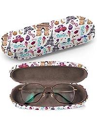 Art-Strap Carcasa rígida para gafas, caja protectora + paño de limpieza, se adapta a la mayoría de gafas y gafas de sol (Torre Eiffel de París)