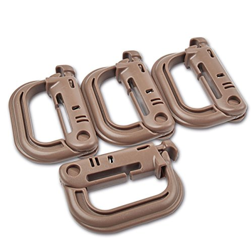 ABS di alta qualità D a forma di fibbia in plastica, anello a D, super-handy Spring Snap Key Chain clip Hook Screw Lock Buckle,  pezzi, plastica, Dark Brown