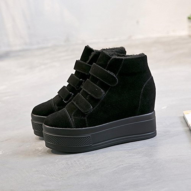GTVERNH-Nuovo Inverno Al Caldo Le Scarpe Di Pelle Di Velluto L'Aumento Di Spessore Di Fondo Velcro Stivali nero 35 | Online Store  | Uomini/Donna Scarpa