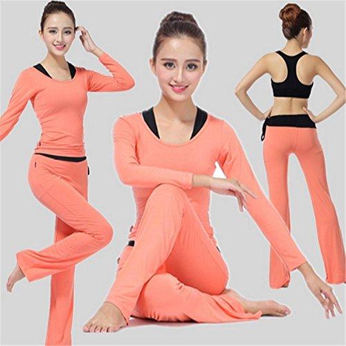 Tenue de yoga pour femme / vêtements de sport confortables / salle de gym Orange