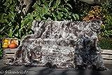 Toscana Lammfelldecke Lammfell-Decke Schaffelldecke abgefüttert 200 x 155 c