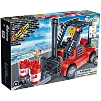 Price comparsion for BanBao Building Blocks Bricks Construction Cargo Forklift Truck - Best Selling Toys & Games Creative Boy Child Children Boys Kids - Great Idea for Fun Easter, Birthday Xmas, Christmas, Stocking Filler Present Gift or Reward or Pocket Money Treat - One Sup
