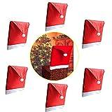 WOSON 12 Pcs Coprisedia Set - 6 x Copri Sedie + 6 Portaposate - Albergo Cerimonia Bar Cucina Sedia Da Pranzo Sedia Da Copertura Matrimonio Ristorante Decorazione immagine