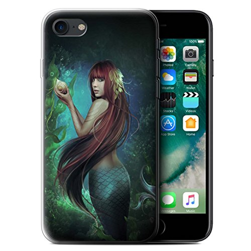 Officiel Elena Dudina Coque / Etui Gel TPU pour Apple iPhone 7 / Sous-Marin Design / Agua de Vida Collection Sirène/Shell