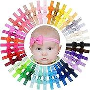 40 lazos para el pelo de grogrén para niñas de 2 pulgadas, accesorios para el cabello para bebés recién nacido