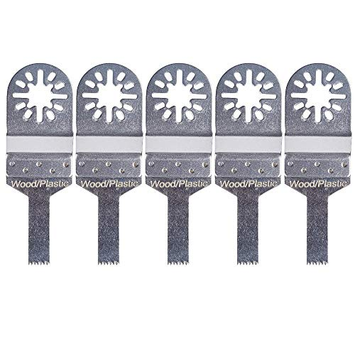 Handser 10 mm Sägeblätter Edelstahl Klinge Fiberboard Holz oszillierend Multitool für Rockwell Fein Multimaster Bosch Makita Ridgid Genesis 5 Stück