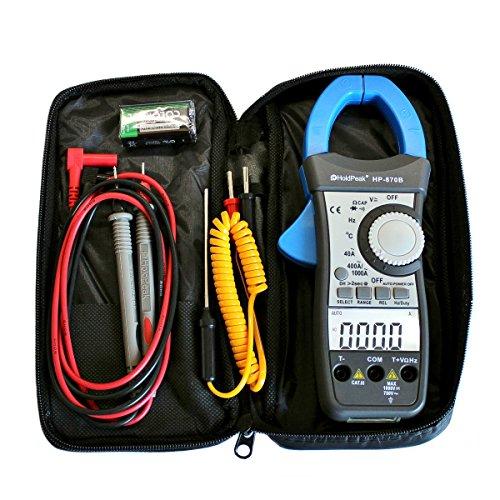 HoldPeak HP-870C-APP Zangen-Multimeter Stromzange AC DC °C Bluetooth APP Gleichstromzange digital Amperemeter