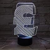7 Couleurs Uk Livre Symbole 3D Led Lampe Intérieur Usb Lumière Couleur Changeante Bureau Décor Led Nuit Lampe Pour Ami