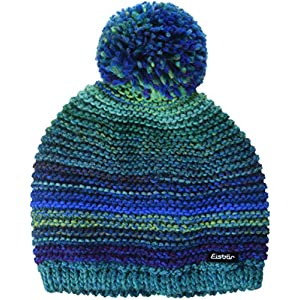 Eisbär Kinder Kunita Pompon Mütze, blaueffekt, 55
