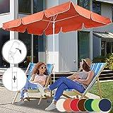 Parasol Rectangulaire   180 x 120 cm, Hauteur Réglable, Inclinable, Protection UV...