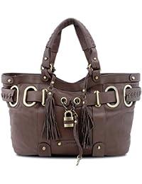 8fb04610924f0 BOVARI XL Padlock Shopper Handtasche - braun brown marron - super soft  limited edition