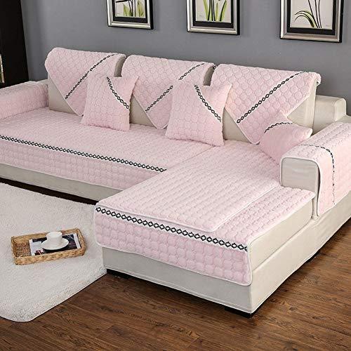 Sofa Schonbezug Loveseat Couch Sofa Sofabezüge Soft Couch Schonbezug Gepolsterte Sofakissen aus Stoff Anti-Rutsch Einfaches Sofabezugtuch Rutschbezug Staubdicht Waschbar, für Wohn- und Schlafzimmer , -