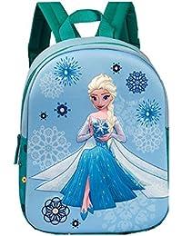 Preisvergleich für Kinder Rucksack - Disney - Die Eiskönigin – Völlig unverfroren - Elsa - 3D - Kinderrucksack - mit Hauptfach