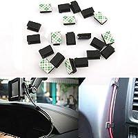 Wuudi - 40 clips de fijación para cables autoadhesivos para coche