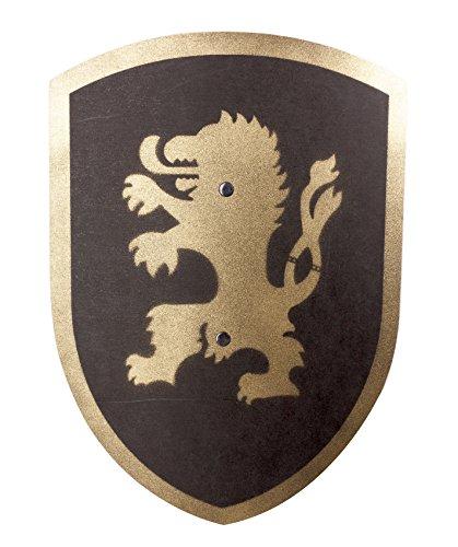 Spielzeugmanufaktur VAH 206 Holzschild, Löwe (schwarz/Gold), Klein (Breite 27cm / Länge 37cm)