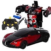 Yeldou One-Button Deformation Remote Control Toy Car, Gesture-induced Deformation Toy Car, 1:14 One-Button Deformation Remote Control Toy Car