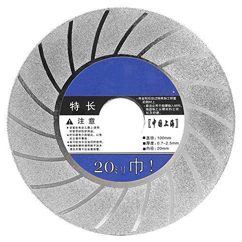 Liukouu 4in80 Grit Professionelle Diamanttrennscheibe Trocken/Nass Schleifscheibe Cup Tool(02)