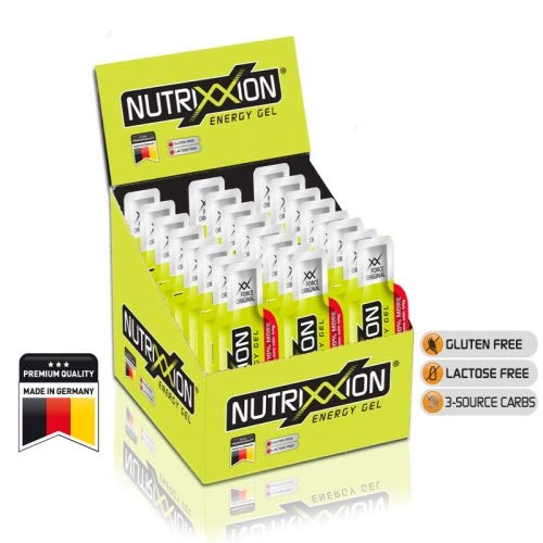 Nutrixxion ENERGIE GEL Set 24 x 44g, Geschmack XX Force Original [80mg Koffein] Sprint-gel