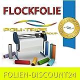 (EUR 27,90 / Quadratmeter) FLOCKFOLIE TbT FLOCK 101 NEON YELLOW BÜGELFOLIE TOP ! Preistip Flex Flock 1 M x 50 cm
