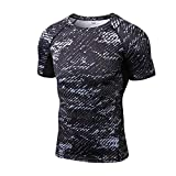 Nibesser Homme Sport Slim T-shirt Séchage RapideAnti-odeur Antibactérien Ultra-respirant Col Rond Bien pour Sport Fitness Jogging Exercice Série