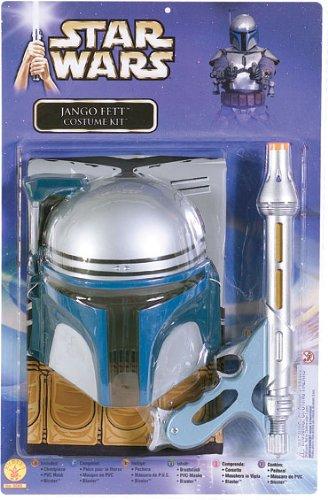 Jango Fett Star Wars Kinder Kostüm mit Blaster Universalgröße 116 bis ()