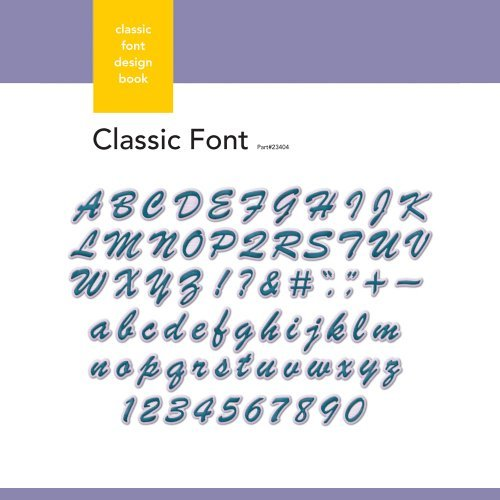 Xyron Classic Font Design Book for Xyron Personal Cutting System by Xyron -