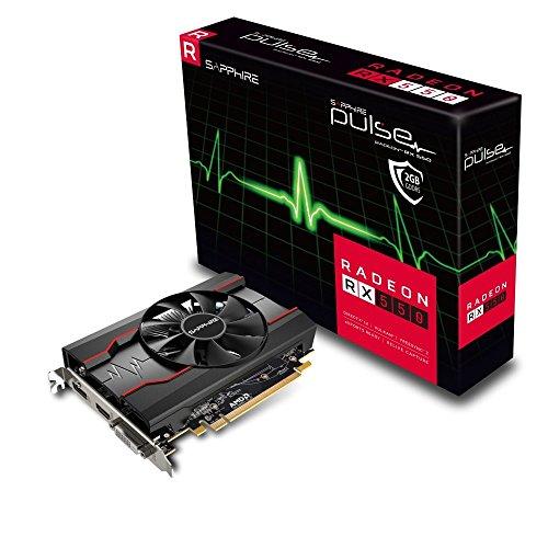Sapphire 11268-03-20G Radeon RX 550 2GB GDDR5 graphics card - graphics cards (AMD, Radeon RX 550, 3840 x 2160 pixels, 1206 MHz, 2560 x 1600 pixels, 4096 x 2016 pixels)