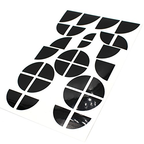 Emblem Ecken Aufkleber Glanz von Finest-Folia (Schwarz Glanz)