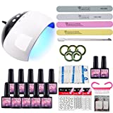 Saint-Acior UV Gel Lack Nagelset UV Gel Farbgel Nageldesign Gelnägel Starterset Nail art Gellacken UV Gel Polish Nagelgel Lack Set