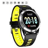 Mrrong Smart socken Schritte Übung Fitness Herzfrequenz Blutdruck Sauerstoff Test Schlaf Erkennung IP67 Wasserdichte Smart Watch,Yellow