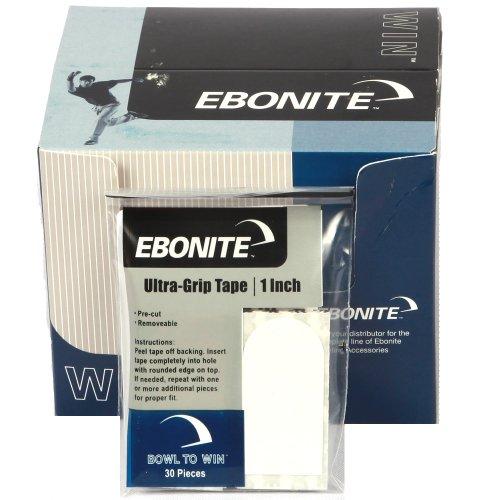 Ebonite Bowling Tape Bowler (1weiß)-30Stück, 2,5cm, Herren, Bowlers, weiß