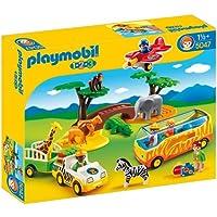 Playmobil - 5047 - Jeu de Construction - Coffret Animaux de la Savane avec Gardien et Touristes