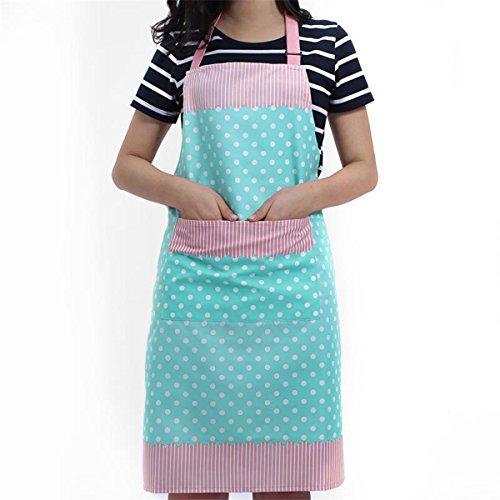 Frauen Schürzen Kochbekleidung Kochschürze mit Tasche - Geschenk zum Muttertag (Blau)